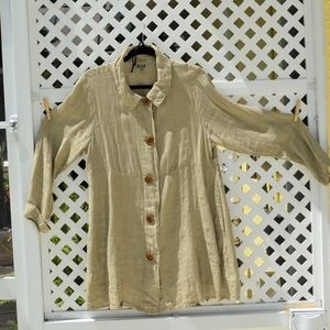 FLAX Linen Tunic / Duster Small